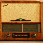 Ламповый радиоприёмник Беларусь - 53 богатый шпон по бокам